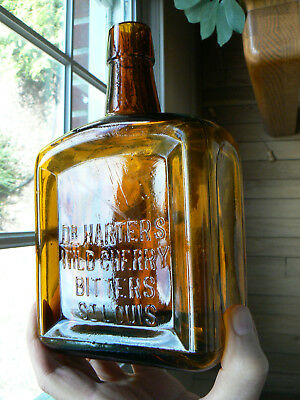 blown Dr Harters Wild Cherry Bitters, St Louis, Mo