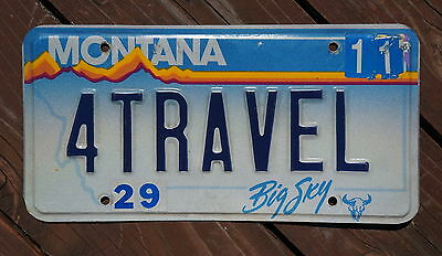 Montana Love to Travel Vanity License Plate # 4 TRAVEL