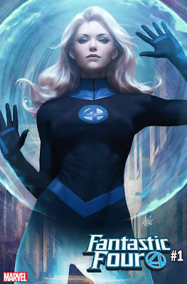 Fantastic Four #1 Stanley Lau Artgerm Invisible Woman Variant Vf/nm