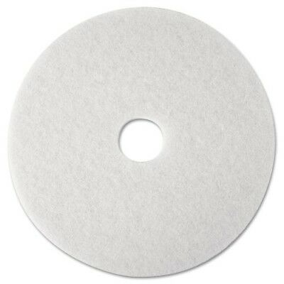 "3M White Super Polish Pad 4100, 21"" Floor Pad, Machine Use (Case of 5) Clean New"