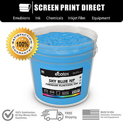 Ecotex SKY BLUE NP - Premium Plastisol Ink for Screen Printing - ALL SIZES