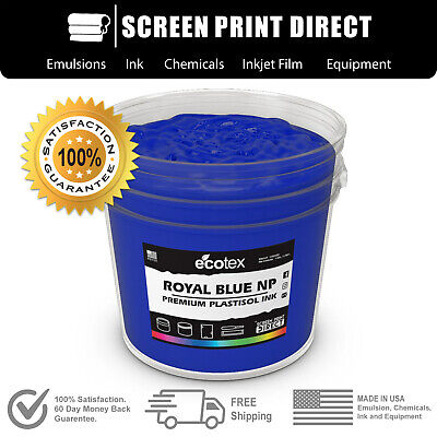 Ecotex ROYAL BLUE NP - Premium Plastisol Ink for Screen Printing - ALL SIZES