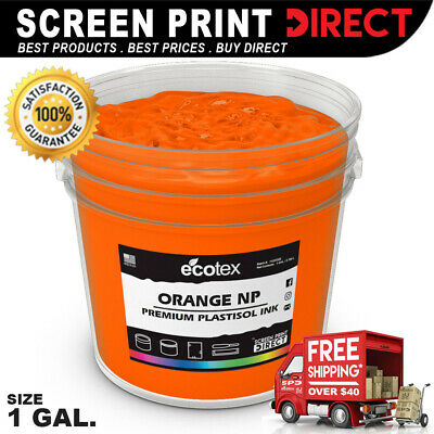 Ecotex ORANGE NP - Premium Plastisol Ink for Screen Printing - ALL SIZES