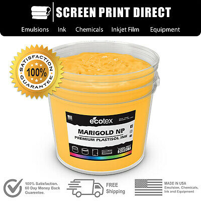 Ecotex MARIGOLD NP - Premium Plastisol Ink for Screen Printing - ALL SIZES