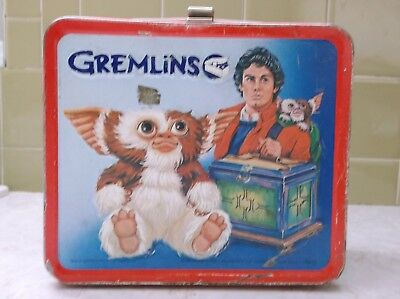 Vintage 1984 Aladdin Gremlins Metal Lunch Box & Thermos