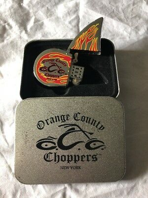 Orange County Choppers New York Cigarette Lighter - New W/Case! - (b)