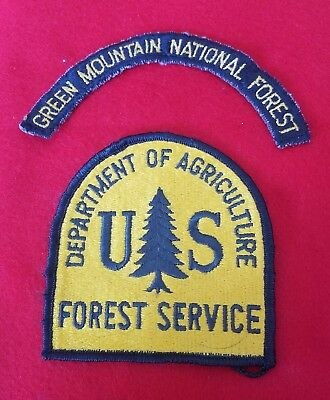 Vtg.  U.S. Department of Agric., Green Mountain National Forest Service Patch