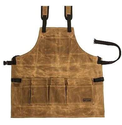 Tool Apron 20oz Waxed Canvas By Readywares Adjustable Fit Strudy High Quality