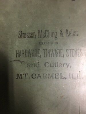 Strasser McClung Keller Dealers in Hardware Tinware Stoves Cutlery Mt. Carmel IL
