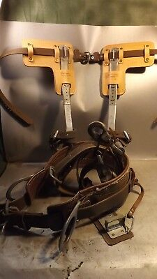 Set With Klein co Harn & Pole/Tree Climbing Spurs/Spikes Kit Made In USA