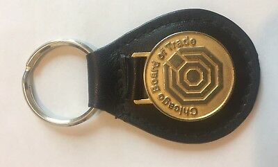 Chicago Board Of Trade Leather Keychain