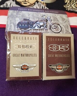 Harley Davidson Motorcycle's Collectible Tin With Cards,sealed