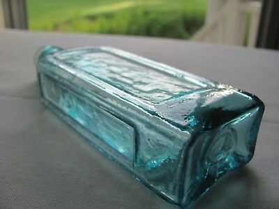 Beautiful Ice Blue Pontiled Medicine Or Utility Bottle Heavy Whittle No Problems
