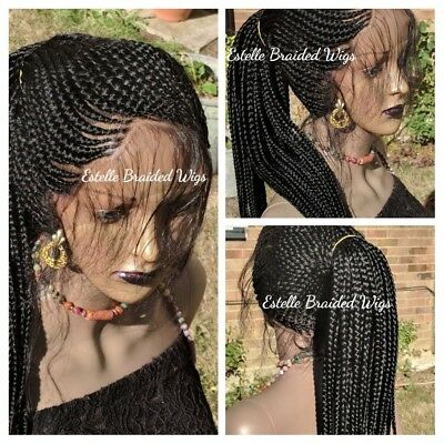 Braided Lace Wig, Shuku Ghana Weave, Feed-in Cornrows,  Box Braids, Braided Wig.