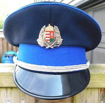 Budapest Hungary Police Senior Officer's Hat and Badge , Nice!
