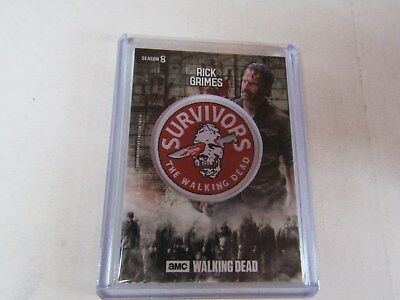 Rick Grimes  The Walking Dead  Season 8  Manufactured Faction Patch Relic Card