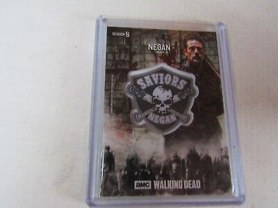 Negan  The Walking Dead  Season 8  Manufactured Faction Patch Relic Card