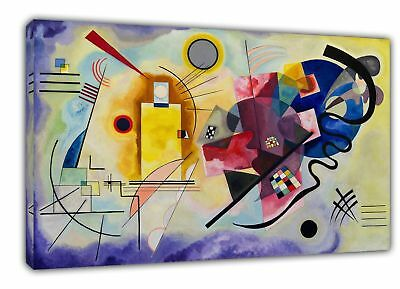 Wassily Kandinsky Yellow Blue Red Painting Re Print On Framed Canvas Wall Art