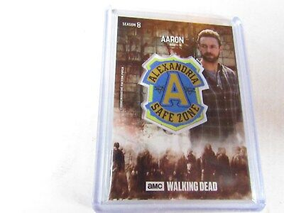 AARON  THE WALKING DEAD  SEASON 8  RUST FACTION PATCH RELIC CARD s/n 29/99