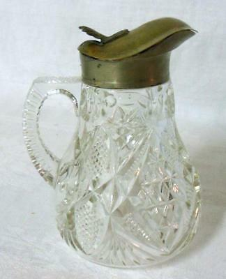 Victorian Era EAPG Pattern Glass Syrup Pitcher