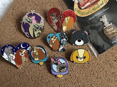 Disney Pin Lot Lady And The Tramp Pins