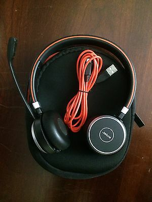Jabra Evolve 65 MS Stereo Wireless Headset /Music Headphones/Used. No USB Dongle