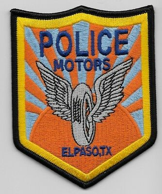 Motors Unit El Paso Police State of TEXAS TX Shoulder Patch