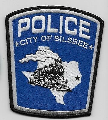 Neat Train Silbee Police State Texas TX patch Sharp