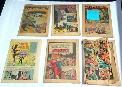 Lot unknown issues PRE CODE comic DC Sci Fi Horror Golden age - missing covers