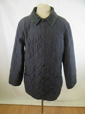 B12301 VTG Men's Barbour Classic Eskdale Snap Quilted Jacket Size S