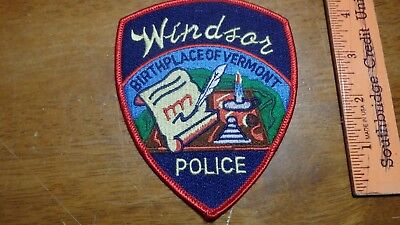 Windsor Vermont Police Department Obsolete Patch Bx 2 #7