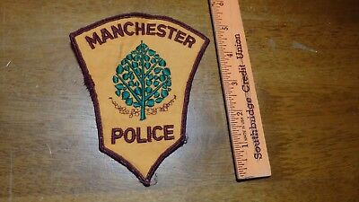 MANCHESTER  NEW HAMPSHIRE  POLICE DEPARTMENT    PATCH    bx B #5