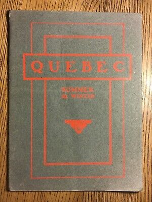CANADIAN PACIFIC RAILWAY Co. BROCHURE 1905, QUEBEC summer and winter guide, 32p