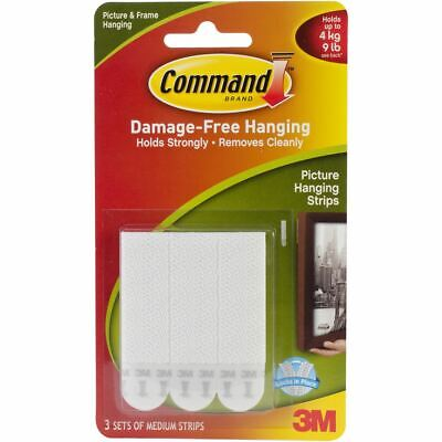 Command Medium Picture Hanging Strips-White 3 Sets/Pkg -17201