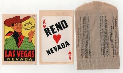Vintage Las Vegas Reno Lindgen-Turner Co Decals