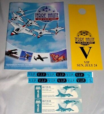 2005 TERRE HAUTE Air FAIR SHOW • Souvenir PROGRAM + UNUSED TICKETS, Parking PASS
