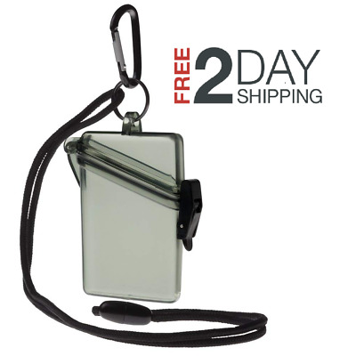 WITZ See it Safe Waterproof ID/Badge Holder Case, Military Green