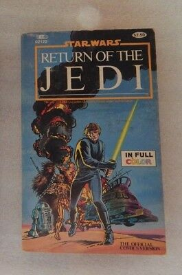 Sar Wars Paperback Books Comic Version Return of the Jedi