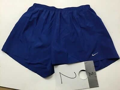 Mens Nike Dri Fit Brief Lined Running Athletic Shorts - Light  Blue -XXL- MINT