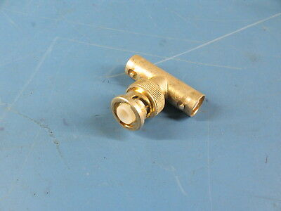 """1pc MHV T """"Tee"""" Bendix 2940-1 Silver Plated Brass Coaxial Adapter"""