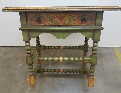 Vintage 1930's CALIFORNIA DECORATIVE ARTS & CRAFTS TABLE Monterey Style Antique