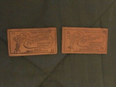 Set of 2 ROY ROGERS Denim Blue Jeans Labels from Sears Roebuck & Co 1950's