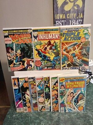 First Issue Comic Lot Inhumans #1, Howard The Duck #1, Doc Savage #1 & Many More
