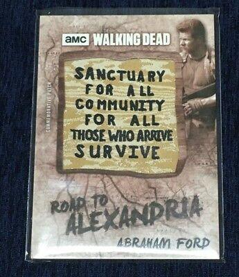 Abraham Ford 2018 Topps Walking Dead Road to Alexandria Sign Patch P-MC #ed 3/10