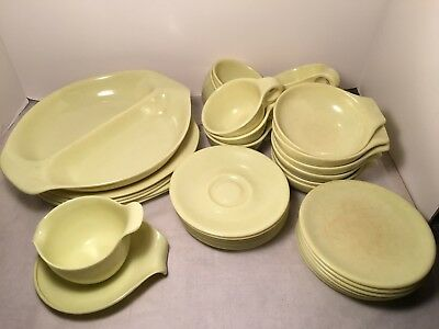 38 Piece Set of Russel Wright Residential by Northern Melmac Yellow