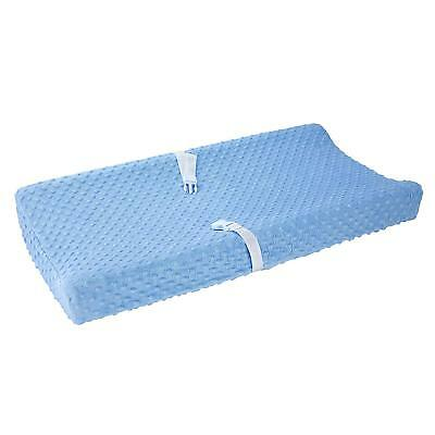 Carter's Baby Changing Pad Cover, Solid Light Blue, One Size popcorn
