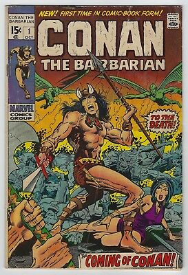Conan the Barbarian #1 (1970 Marvel) 1st App Conan, Thomas, Windsor-Smith VG/VG+