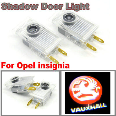2x LED Car Door Projector Logo Ghost Shadow Lights For Vauxhall Opel Insignia