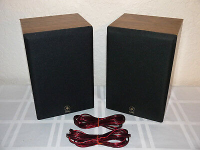Vintage Yamaha Stereo Bookshelf Speakers NS A34 Small Mini Compact Wire