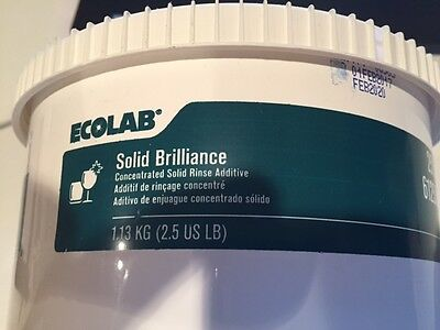 ECOLAB Solid Brilliance RInce Additive 2.5#
